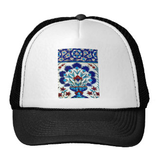 Vintage Antique Floral Abstract Turkish tiles Hats