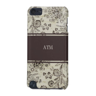 Vintage Antique Floral Custom Monogram Initials iPod Touch 5G Cover