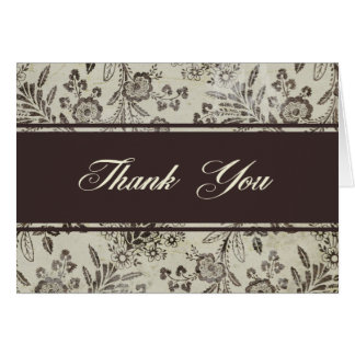 Vintage Antique Floral Thank You Stationery Note Card