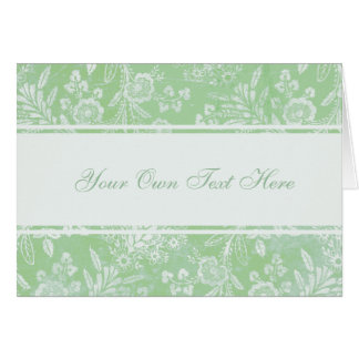 Vintage Antique Floral  Write Your Own Stationery Note Card