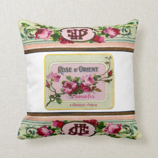 vintage antique french rose cushion pillow