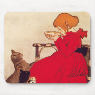 Vintage Antique Girl Milk Cats Theophile Steinlen Mouse Pad