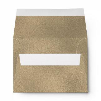 Vintage Antique Gold Foil Look 5x7 Envelope