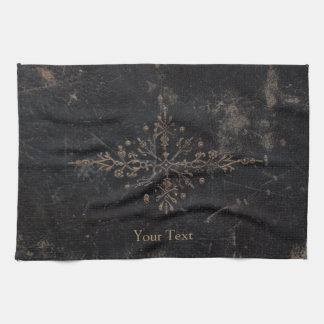 Vintage Antique Gold Leaf Faux Leather Kitchen Towel