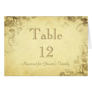 Vintage Antique Gold Table Seating Name Card