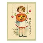 Vintage-Antique Halloween Design Postcard JOL