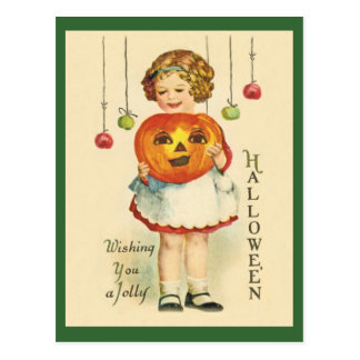 Vintage-Antique Halloween Design Postcard JOL