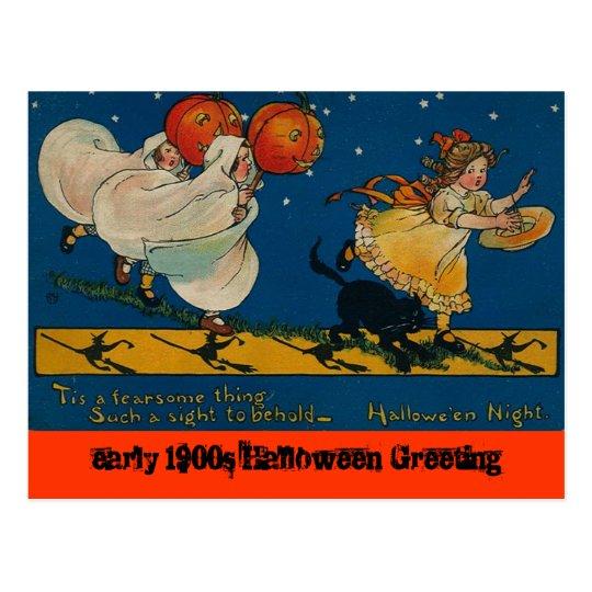 Vintage Antique Halloween postcard