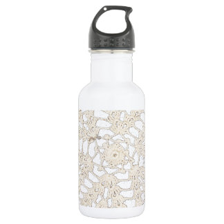 Vintage Antique Handcrafted Tatting Design Stainless Steel Water Bottle