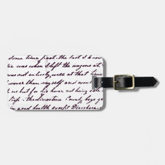 Vintage Antique Handwriting Tags For Luggage