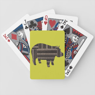 Vintage Antique Hippo Ethnic Pattern Tribal Bicycle Playing Cards