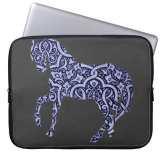 Vintage Antique Horse Pattern Decorative Design Laptop Sleeve
