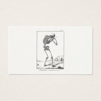 Vintage Antique Human Skeleton Medical Anatomy Business Card