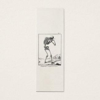 Vintage Antique Human Skeleton Medical Anatomy Mini Business Card
