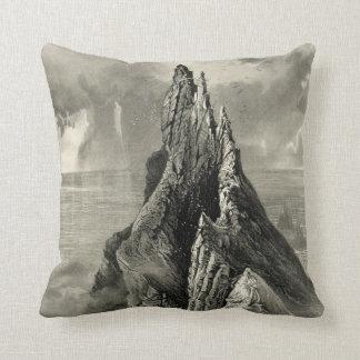 Vintage Antique Ireland Bent Cliff Coast Pillow