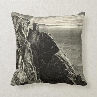 Vintage Antique Ireland Carrigan Head Throw Pillows
