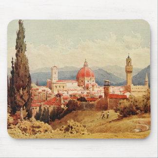 Vintage Antique Italy Florence Boboli Gardens Mouse Pad
