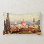 Vintage Antique Italy Florence Boboli Gardens Pillow