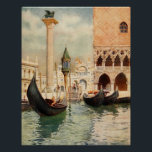 """Vintage Antique Italy Venice Gondola Shrine Poster<br><div class=""""desc"""">Made from a 1907 color print of the Gondolier&#39;s Shrine in Venice,  Italy by Reginald Barratt. This product is perfect for anyone who has visited italy,  or simply dreams about it!</div>"""