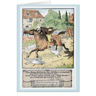 Vintage antique John Gilpin Randolph Caldecott Card