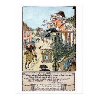 Vintage antique John Gilpin Randolph Caldecott Postcard