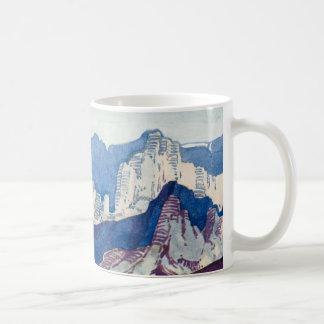 Vintage Antique Landscape Watercolor Dolomites Coffee Mug