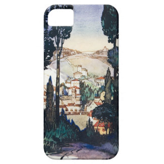 Vintage Antique Landscape Watercolor Fiesole Italy iPhone 5 Covers