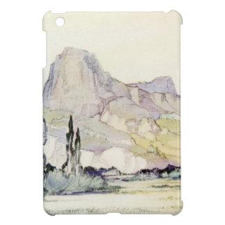 Vintage Antique Landscape Watercolor Le Puy France Cover For The iPad Mini