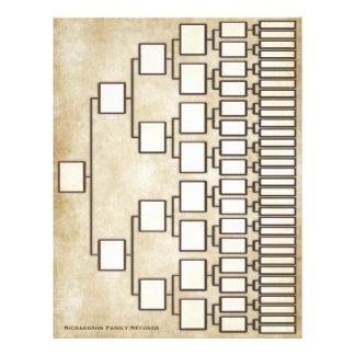 Vintage Antique Look Genealogy Lineage Sheet