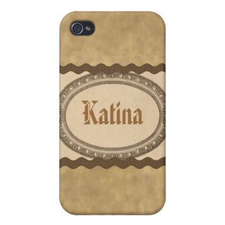 Vintage Antique Look Oval Name Case iPhone 4