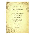 "Vintage Antique Look Wedding Invitation 5"" X 7"" Invitation Card"