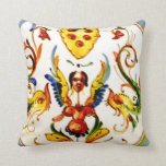 Vintage Antique Majolica Pottery Art Throw Pillows