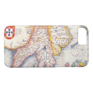 Vintage Antique Map of Southeast Asia Circa 1590 iPhone 7 Case