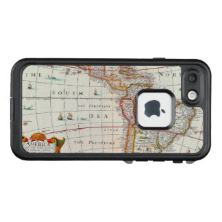 Vintage Antique Map of the Americas Circa 1626 LifeProof FRĒ iPhone 7 Case