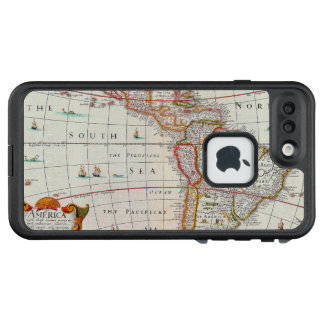Vintage Antique Map of the Americas Circa 1626 LifeProof FRĒ iPhone 7 Plus Case