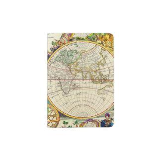 Vintage Antique Map of the World Circa 1755 Passport Holder
