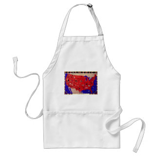 Vintage Antique Map United States of America, USA Adult Apron