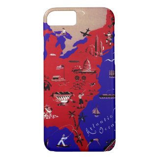 Vintage Antique Map United States of America, USA iPhone 7 Case