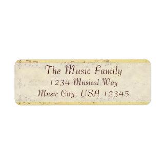 Vintage Antique Musical Notes Custom Labels