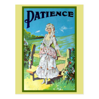 Vintage antique musical opera Patience Post Cards