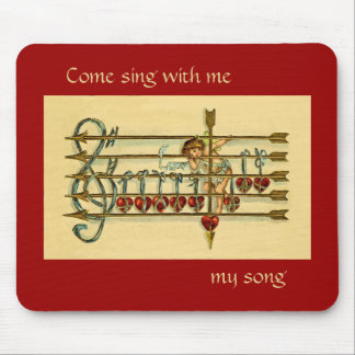 Vintage Antique Musical Valentine's Day Mousepad