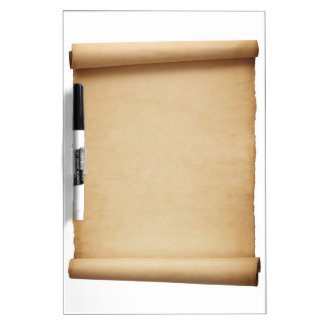 Vintage antique old historical scroll dry erase Dry-Erase boards