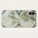 Vintage Antique Old World Map, 1666 by Pieter Goos iPhone X Case