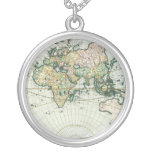 Vintage Antique Old World Map, 1666 by Pieter Goos Round Pendant Necklace