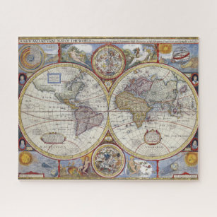 Old world map jigsaw puzzles zazzle vintage antique old world map by john speed 1627 jigsaw puzzle gumiabroncs Gallery