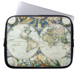 Vintage Antique Old World Map by Pieter Goos, 1666 Laptop Computer Sleeve