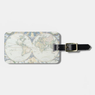 Vintage Antique Old World Map by Pieter Goos 1666 Luggage Tags