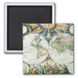 Vintage Antique Old World Map by Pieter Goos, 1666 Magnet