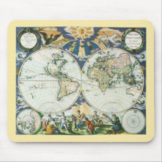 Vintage Antique Old World Map by Pieter Goos, 1666 Mouse Pads