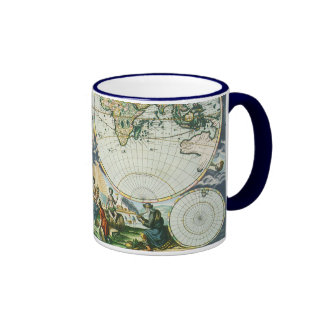 Vintage Antique Old World Map by Pieter Goos 1666 Mugs